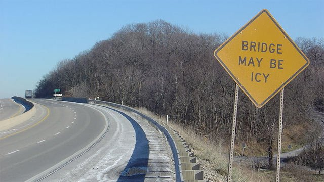 Ice may pose a larger threat on bridges. (File/Wikimedia Commons)