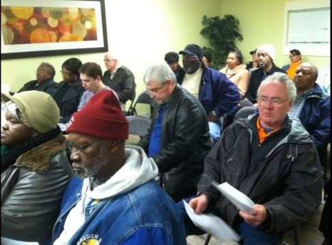 Residents and community members hear plans about the demolition. (Jan. 8, 2014/FOX Carolina)