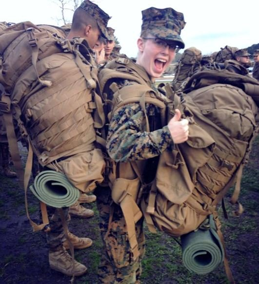 Pfc. Brittany Holloway during her infantry training at Camp Geiger (Source: Holloway's family)