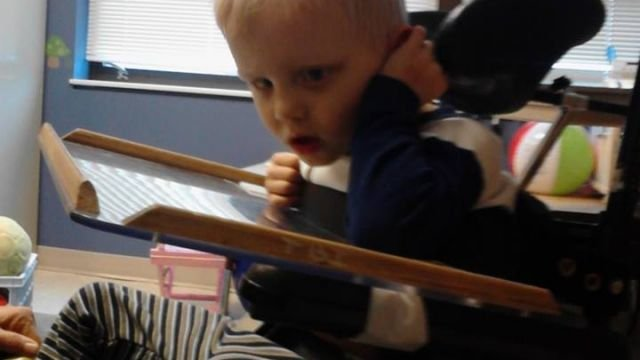 Ian Greene, 4, in speech therapy. (Courtesy: JJ Greene)