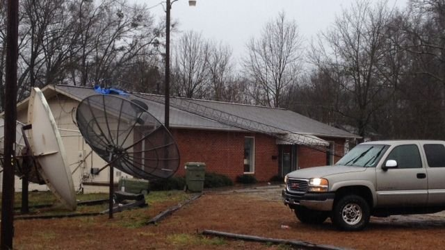 The tower at WSPG in Spartanburg was knocked down (Jan. 11 2103, Fox Carolina)