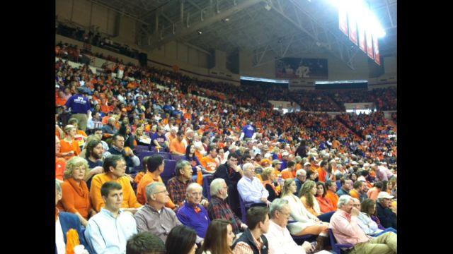 Clemson fans watch as the Tigers beat Duke (Fox Carolina)