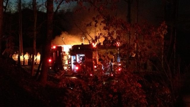 Widgeon Lane house fire (Fox Carolina)