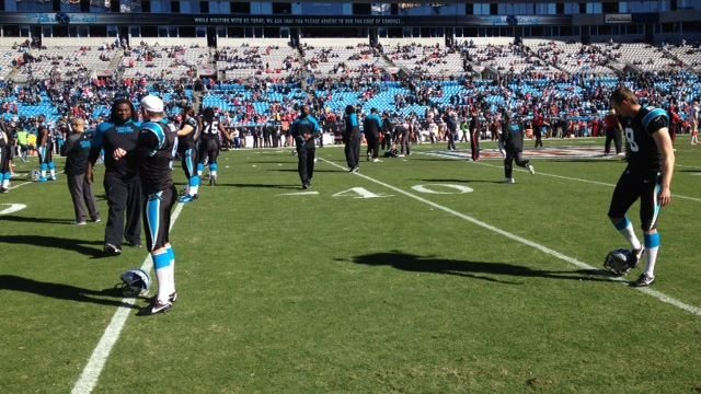 Panthers warm up in Charlotte (Fox Carolina)