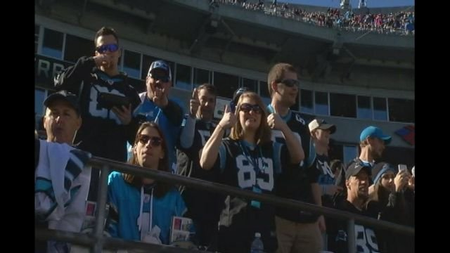 Fans cheer in Charlotte (Fox Carolina)