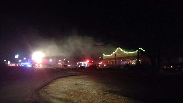 Viewer photo of fire at El Patron off Woodruff Road in Greenville
