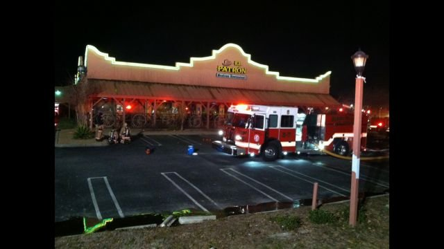 Crews battle fire at El Patron off Woodruff Road in Greenville (Fox Carolina)