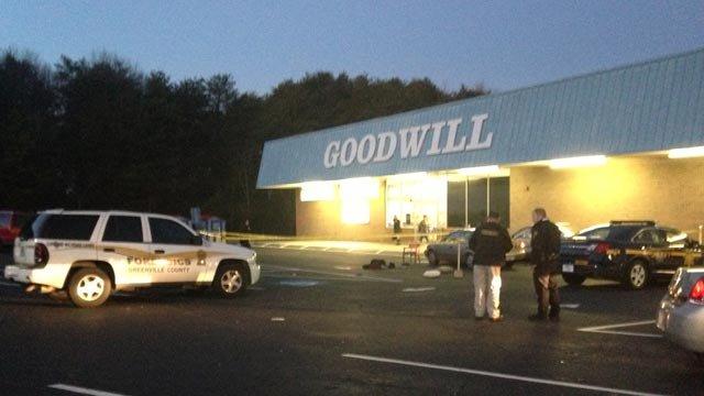 Deputies responded to two gunshot victims in the county, one near a Goodwill store. (Jan. 16, 2014/FOXCarolina)