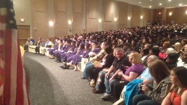 Several students from Emerald High and Greenwood High graduated early. (Jan. 16, 2014/FOX Carolina)