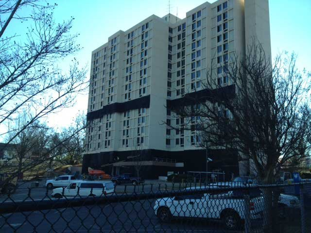 Scott Towers is ready for its implosion. (Jan. 16, 2014/FOX Carolina)