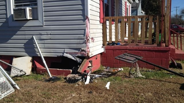 Woman says her home was hit by car (Fox Carolina)