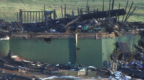 Marszalek's home burned to the ground just six days after he reportedly went missing. (Jan. 15, 2014/FOX Carolina)