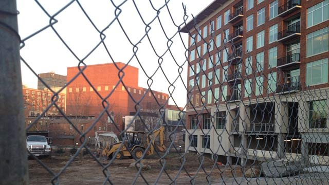 Future location of the Embassy Suites Hotel (Jan. 20, 2014/FOX Carolina)