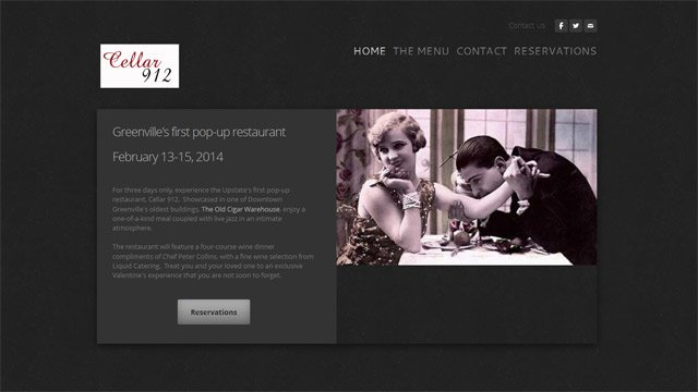 A screen grab of Cellar 912's website. (Source: cellar912.com)