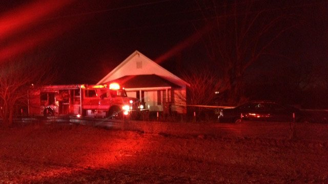 Rescuers respond to the home where the boy fell into the well. (Jan. 21, 2014/FOX Carolina)