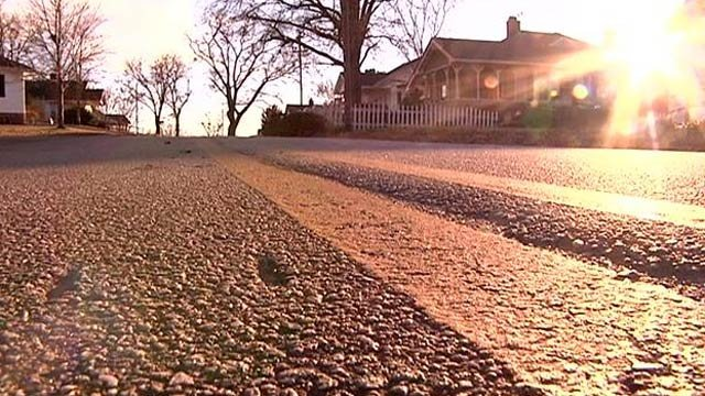 The area along Lawrence Street where residents placed the speed bump. (Jan. 22, 2014/FOX Carolina)