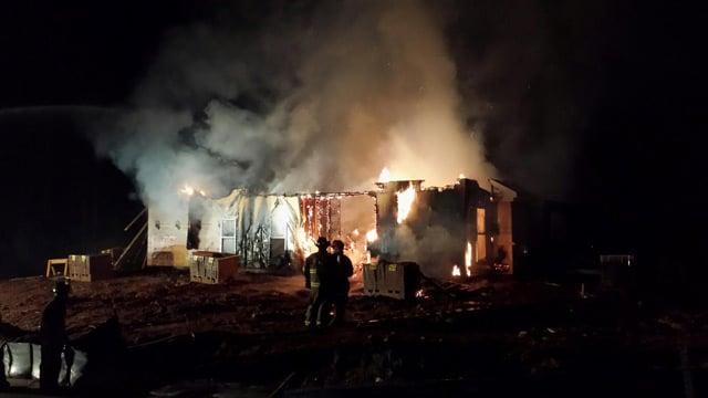 Firefighters at the scene of the destructive blaze. (Jan. 23, 2014/FOX Carolina iWitness)