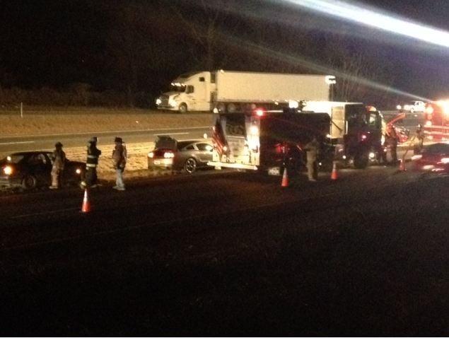 Scene of the fatal crash along I-85 near MM 103. (Jan. 23, 2014/FOX Carolina)