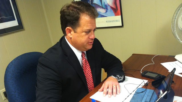 State Sen. Lee Bright at work at his Upstate office. (File/FOX Carolina)