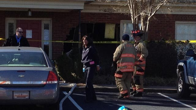 A car went into the Allergy Partners of the Upstate offices on Friday. (Jan. 24, 2014/FOX Carolina)