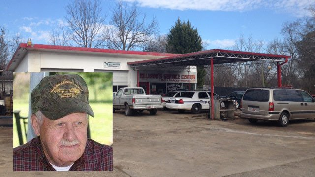 A photo of Sammy Ellison and his Williamston service center. (Source: Family friend and FOX Carolina)