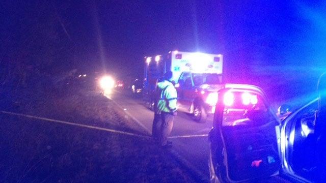 The coroner said a pedestrian died on Mush Creek Road in Greenville Co. on Monday. (Jan. 27, 2014/FOX Carolina)