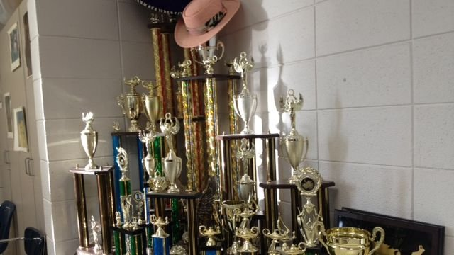 The team's collection of trophies. (Jan. 27, 2014/FOX Carolina)