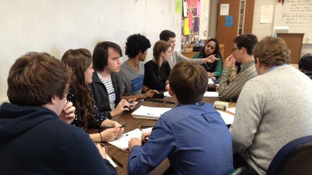 The Dorman High quiz bowl team practices. (Jan. 27, 2014/FOX Carolina)