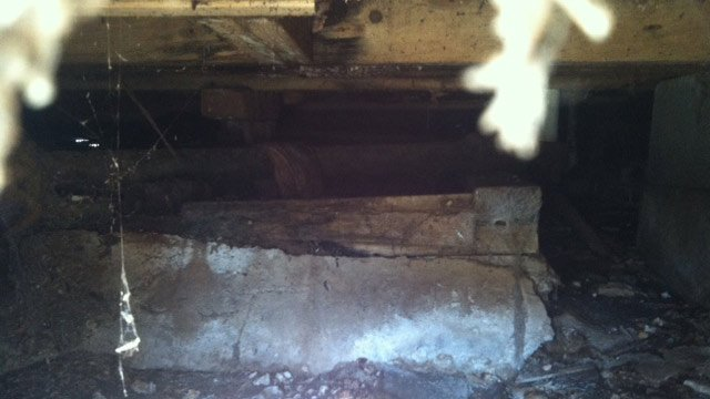 The well can be seen in the crawl space under the home. (Jan. 30, 2014/FOX Carolina)