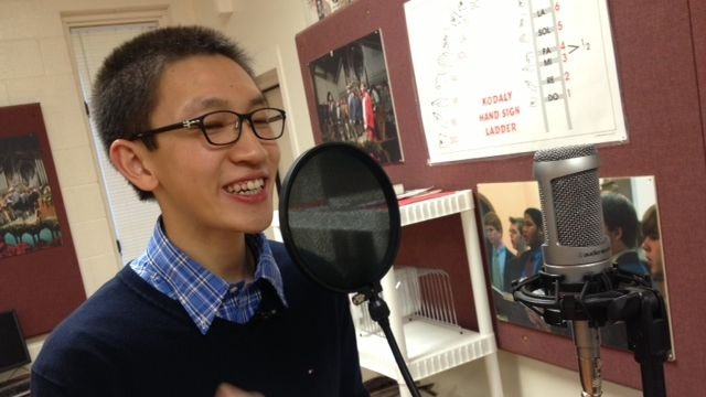 Conrad Ma performs. (Jan. 29, 2014/FOX Carolina)