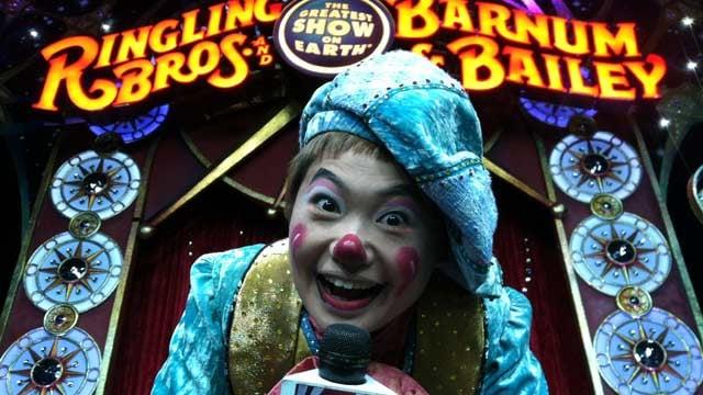 One of the performers, Mariko Iwasa, a Clown Reporter. (Jan. 30, 2014/FOX Carolina)