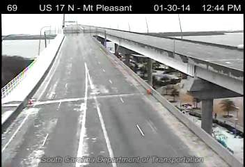 A look at the still icy Ravenel Bridge on Thursday afternoon. (Source: SCDOT)