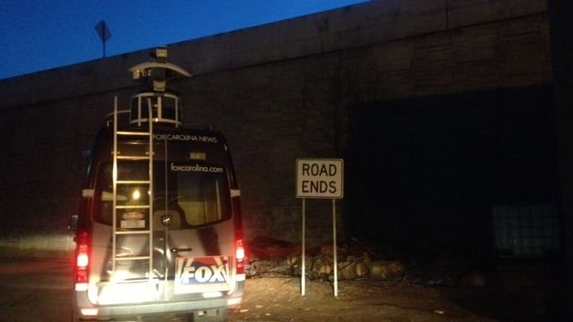 A live truck was brought in to bring in the game. (Feb. 2, 2014/FOX Carolina)