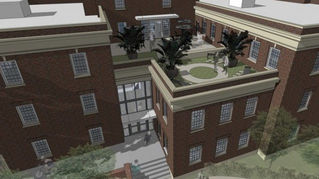 A rendering of the new journalism school. (Source: Univ. of South Carolina)