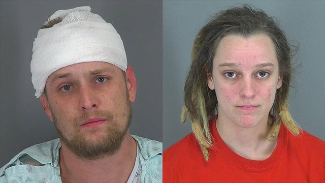 Thomas O'Meara (L) and Emily Cunningham (Source: Spartanburg Co. Detention Center)
