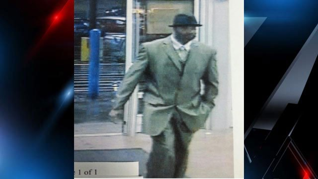 A surveillance photo of the man police say robbed the Walmart. (Source: Pickens Police Dept.)