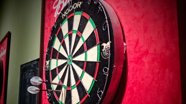 A dart board at Local Cute Sports Bar in Greenville. (Feb. 6, 2014/FOX Carolina)