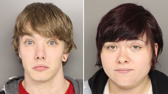 Stephen Simes (L) and Anna Warren. (Source: Greenville Police Dept.)