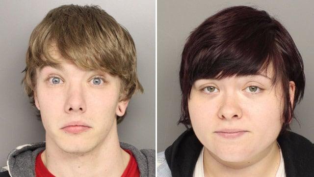 Stephen Simes (L) and Anna Warren. (Source: Greenville Police Dept.)