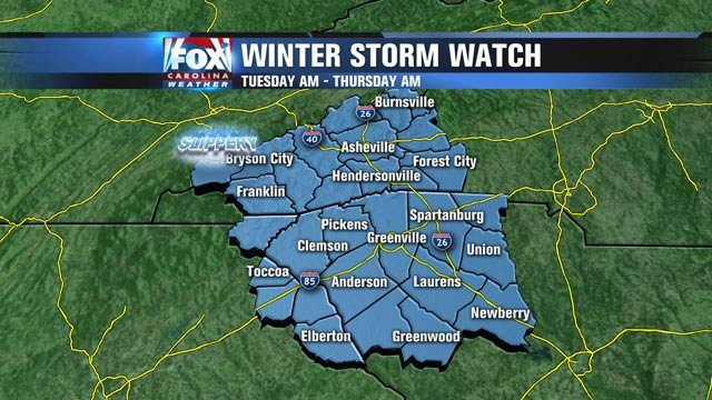 The National Weather Service issued the Watch Monday.