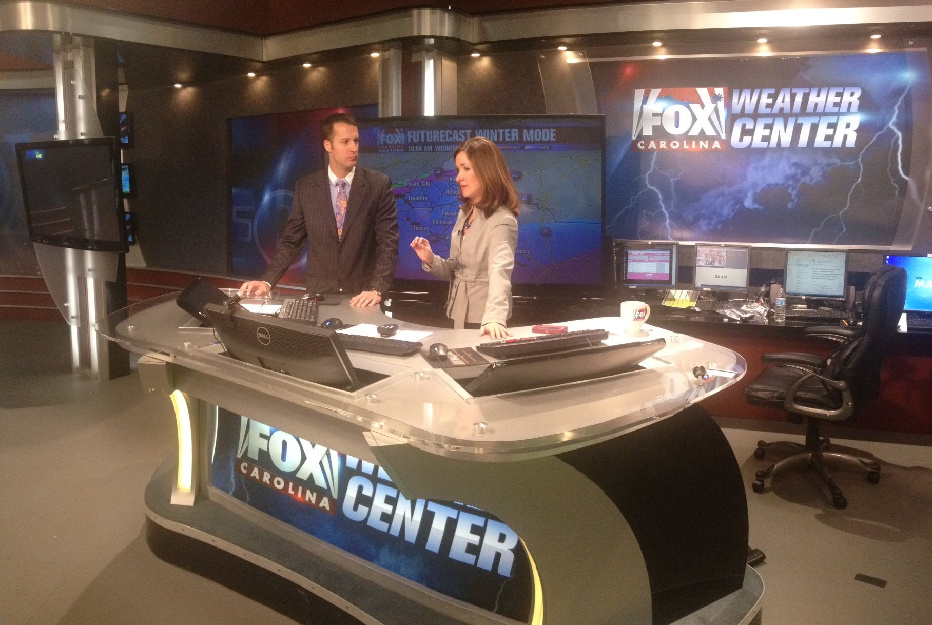 FOX Carolina's Cody Alcorn talks to Chief Meteorologist Kendra Kent about the winter storm. (February 11, 2014/FOX Carolina)
