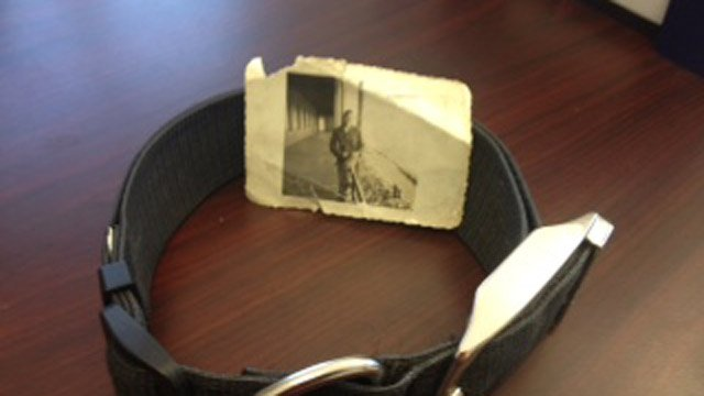A look at the photo found in Soldier's collar. (Feb. 16, 2014/FOX Carolina)