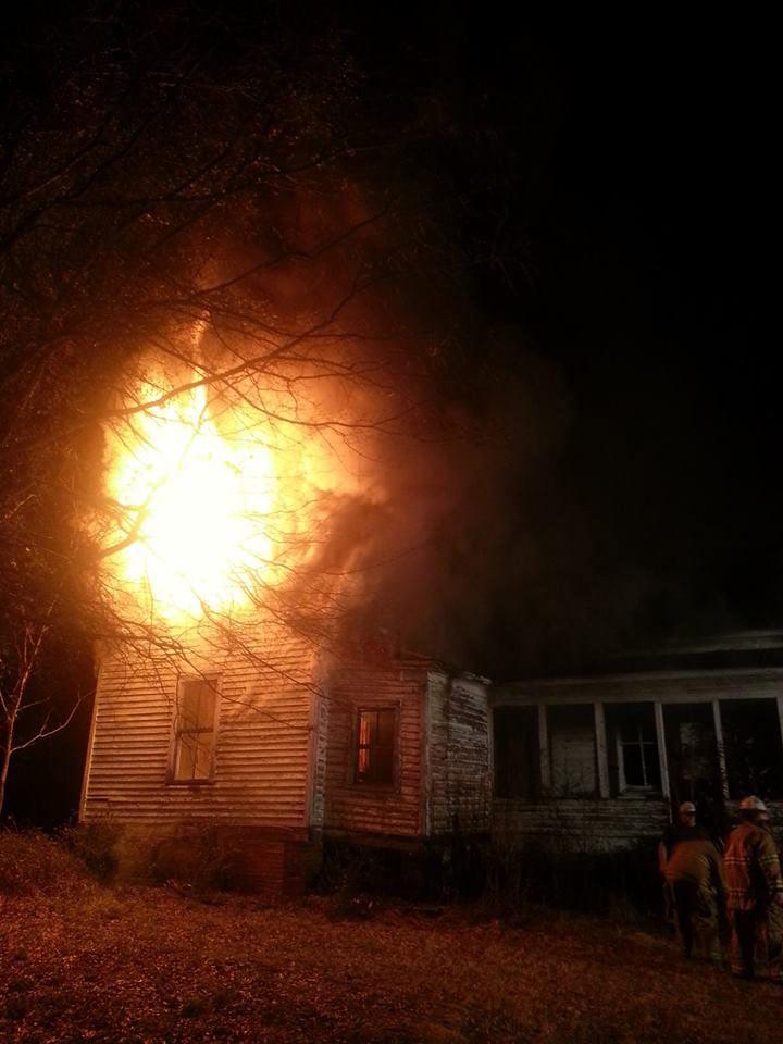 Three agencies responded to the blaze. (Honea Path Fire Dept.)