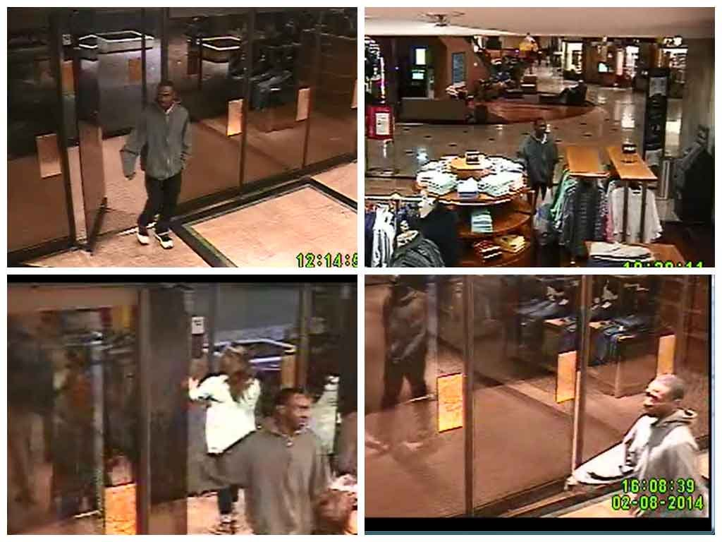 Officers released these photos of the man entering Dillard's at the Haywood Mall. (Source: Greenville PD)