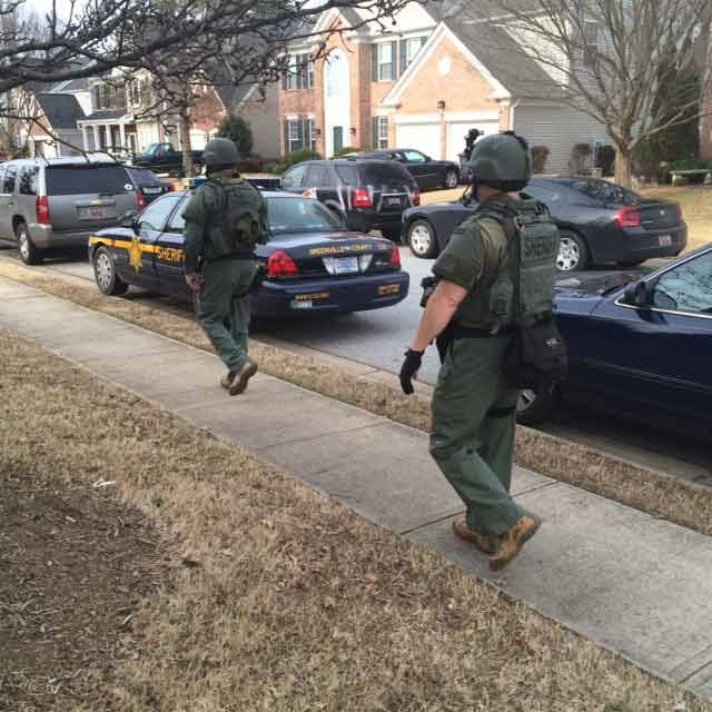 SWAT was called to the house on Collier Lane, off Devenger Road. (Feb. 19, 2014/FOX Carolina)