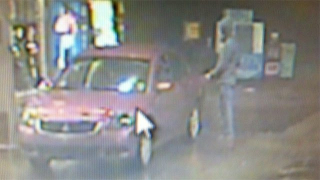 Surveillance photo of the man and car deputies say stole the gas. (Source: McDowell County Sheriff's Office)