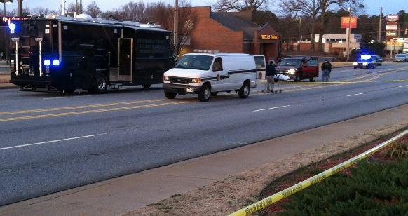 Deputies investigate deadly shooting. (Fox Carolina)