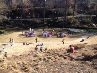 Venezuela protest in Falls Park (Fox Carolina)