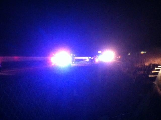 Scene of the wrong way crash on I-85. (Feb. 24, 2014/FOX Carolina)