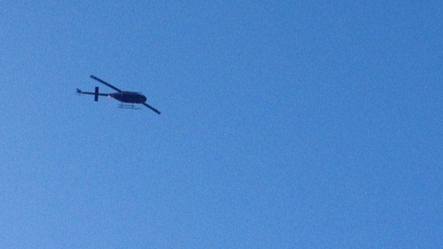 Deputies were using a helicopter to assist in the search on Wednesday. (Feb. 26, 2014/FOX Carolina)